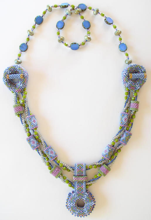 Aurora Necklace Beadwork Kit - Slate Blue