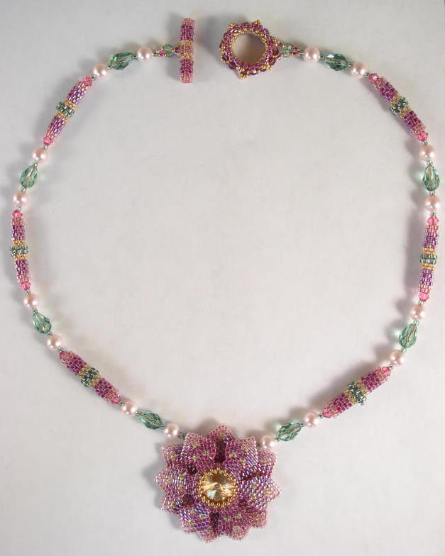 Lotus Flower Necklace Bead Kit  - 2