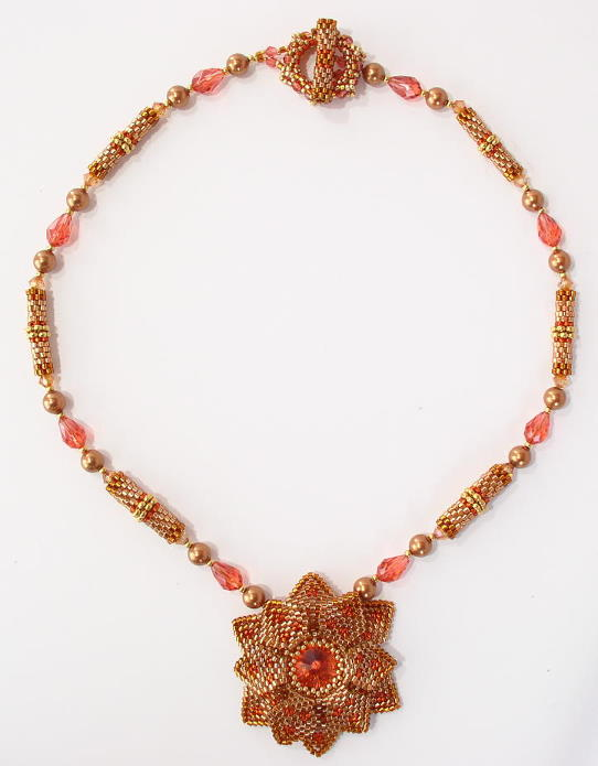 Lotus Flower Necklace Bead Kit  - 1