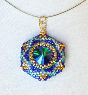 Reversible Pendant Emerals Tanzanite Bead kit