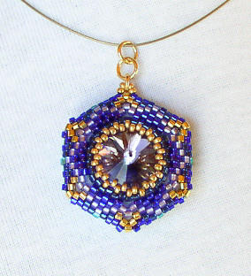 Reversible Pendant Emerals Tanzanite 2 Bead Kit