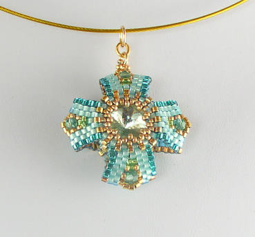 eversible Pendant 3 Aqua Chry Bead Kit 2