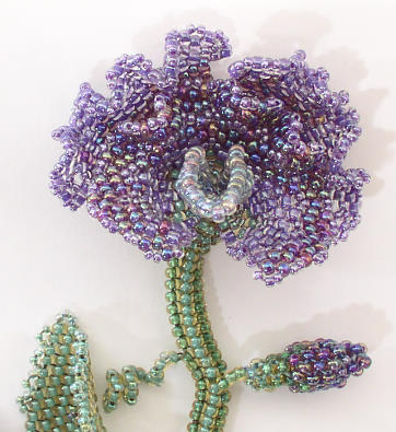 Sweet Pea Necklace Bead kit purple