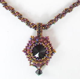 Victorian Beaded Jewelry Pendant
