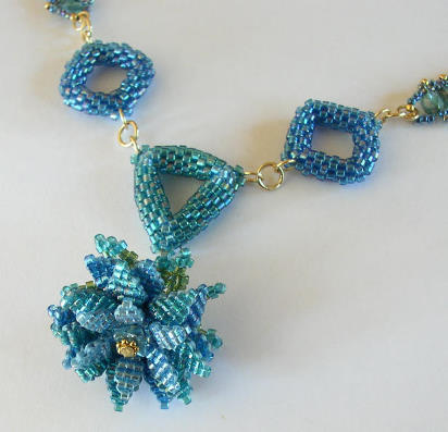 Water Lily Bead Necklace