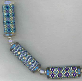 Dancing Light Beaded Beads in Blue
